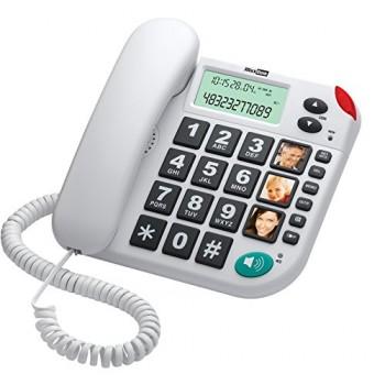 MAXCOM TELEFONO FIJO KTX480 BLANCO