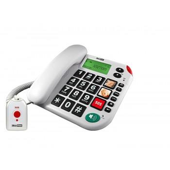MAXCOM TELEFONO FIJO CON NUMEROS GRANDES KXT481SOS