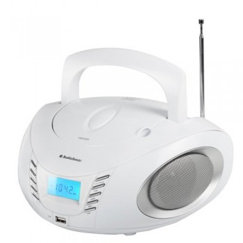 AUDIOSONIC RADIO CD USB MP3 BLANCO CD-1593