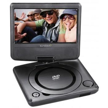 "SUNSTECH DLPM728 DVD PORTATIL 7"" USB NEGRO"