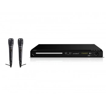 SUNSTECH DVD KARAOKE 2 MICROS USB Y MANDO DVPMK770