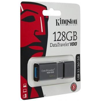 KINGSTON DATA TRAVELER 100 G3 PEN DRIVE 128GB USB 3.1 3.0 2.0