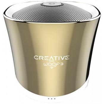 ALTAVOZ BT CREATIVE WOOF3 USB+SD+AUX DORADO