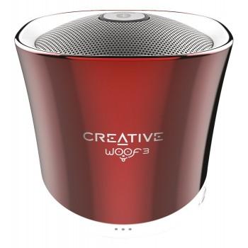 ALTAVOZ CREATIVE WOOF 3 ROJO USB+SD+AUX