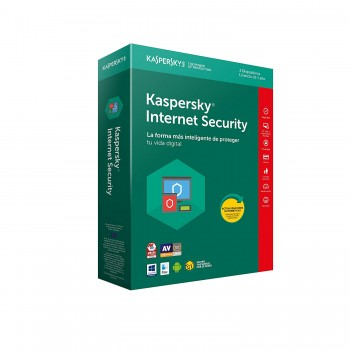 KASPERSKY INTERNET SECURITY 2018 3 USUARIOS