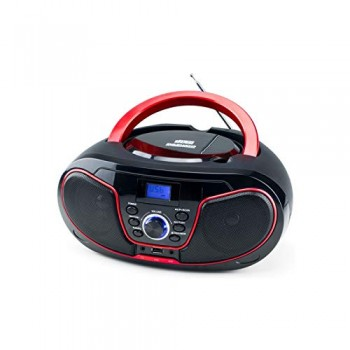 DAEWOO DBU-62BL RADIO CD MP3 CON USB NEGRO ROJO