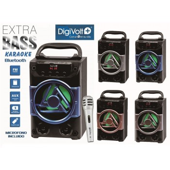 ALTAVOZ KARAOKE HIFI-36 USB SD AUX MICRO INCLUIDO