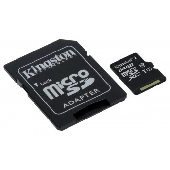 KINGSTON TARJETA MICRO SD 64GB 80MB/S CLASE 10