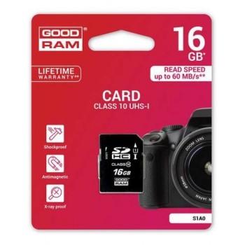 GOOD RAM TARJETA SD 16GB 100MB/S CLASE 10
