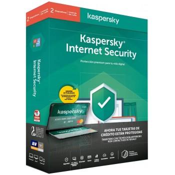 KASPERSKY INTERNET SECURITY 2020 2 DISPOSITIVOS 1 AÑO