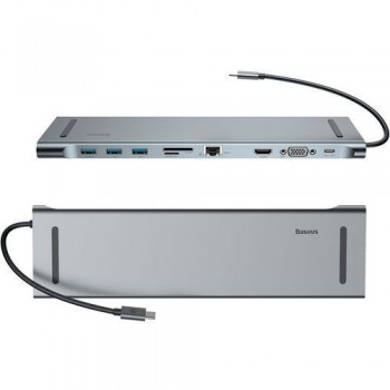 BASEUS HUB 4K USB 3.0 SD MICRO SD GIGABIT VGA USB C AUDIO
