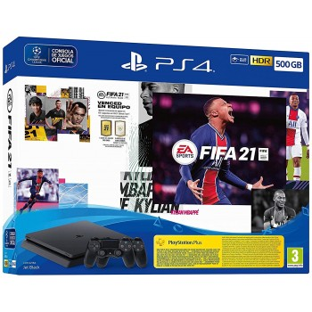 SONY PS4 SLIM 500GB + FIFA21+ DUALSHOCK V2