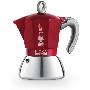 BIALETTI CAFETERA MOKA INDUCCION 4T ROJA