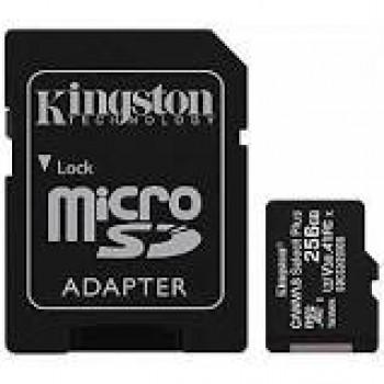 KINGSTON TARJETA DE MEMORIA MICRO SD CON ADAPTADOR 256GB CLASE 10 80MB/S