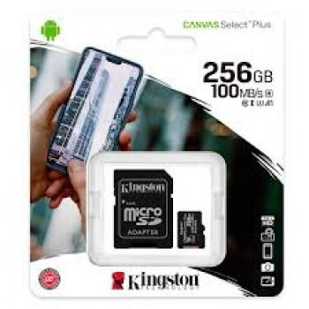 KINGSTON TARJETA MICRO SD 256GB 100MB/S