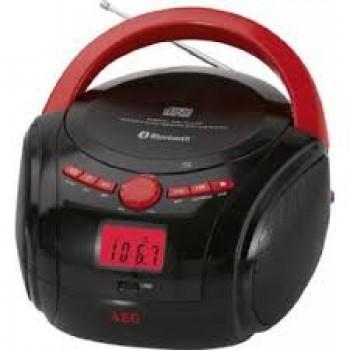 AEG SR 4348 BT RADIO/CD/MP3/BLUETOOTH NEGRO/ROJO