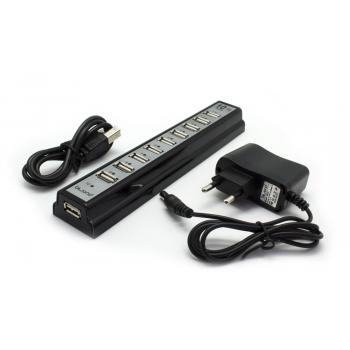BIWOND HUB 10 PUERTOS USB 2.0 CON FUENTE DE ALIMENTACION
