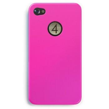 4-OK CARCASA TRASERA IPHONE 4 ROSA