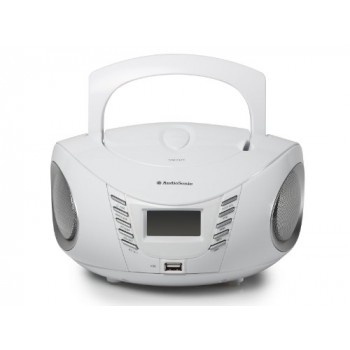 AUDIOSONIC RADIO CD USB MP3 BLANCO CD-1593