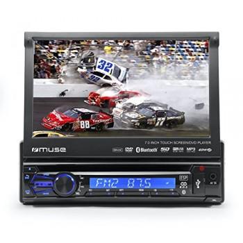 "MUSE M-728 DR RADIO CD Y DVD PARA COCHE BT USB SD 7"""