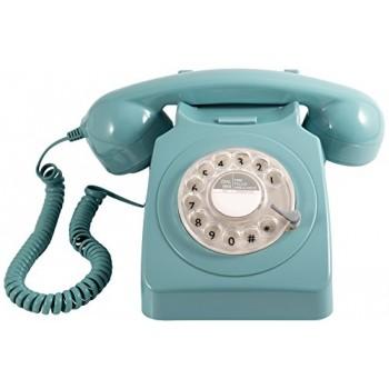 GPO 746 TELEFONO SOBREMESA RETRO DIAL AZUL