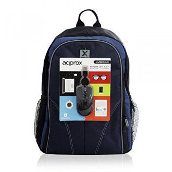 "AQPROX BACKPACKUP TO  15.6"" + RETRACTABLE OPTICAL MOUSE APPNBBUNDLE4"