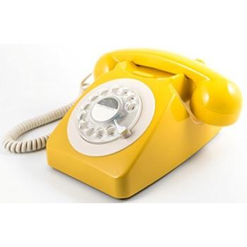 GPO 746 TELEFONO SOBREMESA RETRO DIAL MOSTAZA