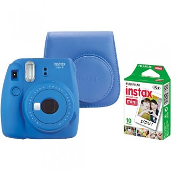 FUJI FILM INSTAX MINI 9 AZUL + CARRETE 10 + FUNDA